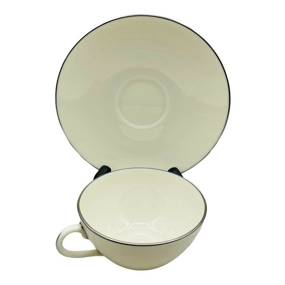 Lenox Olympia Platinum Cup and Saucer (s) Vintage